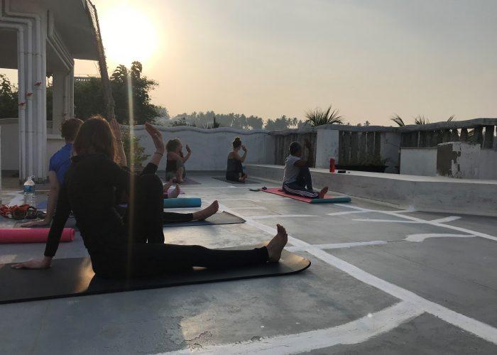 Ananda yoga på taget